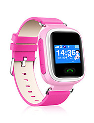 Kid's Smart Watch Digital Leather Band Blue Orange Pink