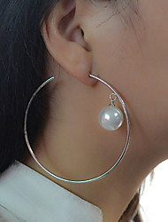 Women's Drop Earrings Hoop EarringsBasic Circular Unique Design Dangling Style Pendant Circle Friendship Multi-ways Wear Cute Style
