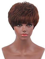 Ripe Fluffy  High Quality  Short Hair  Human Hair Wigs  For Women