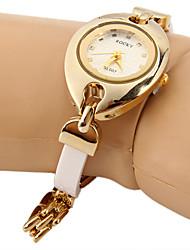 Жен. Модные часы Имитационная Четырехугольник Часы Уникальный творческий часы Китайский Кварцевый Имитация Алмазный Металл Группа