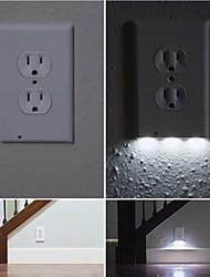 1Pcs Plug Cover LED Night Angel Wall Outlet Face Hallway Bathroom Light AC 110V