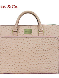 Kate&Co. portable multifunctional notebook computer bag briefcase (14-15 inch) ostrich pink TH-01565