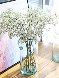 25inch Large Size 5 Branch Silk Polyester Baby Breath Tabletop Flower Artificial Flowers