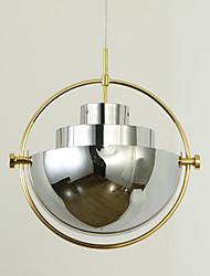 Post moderno estilo da Europa gire lâmpada de lustre cor cromada cromada para o quarto / sala de estar / cantina / bar / entrada decorar