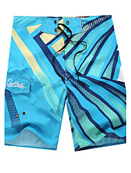 Men's Quick-Drying Breathable Bottoms Prints Beach/Swim Shorts Polyester Summer Green/Blue/Red