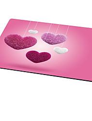 Tapis de souris en forme de coeur ajazz Mignon style tissu en caoutchouc 21cm * 26cm * 0.3cm