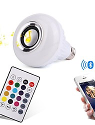 12W Bombillas LED Inteligentes 28 SMD 1000 lm RGB Bluetooth Regulable Control Remoto Decorativa AC100-240 V 1 pieza