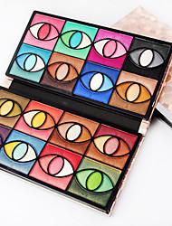 80 Paleta de Sombras de Ojos Seco Paleta de sombra de ojos Polvo Maquillaje de Diario