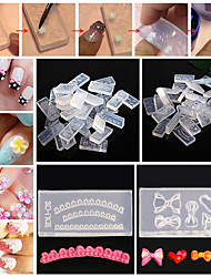 30pcs Mixed Crystal a Carved Mold Silicone Material Nail Art DIY