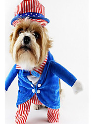 Dog Costume Dog Clothes Party Cosplay Stripe Blue Green