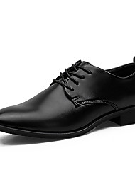 Men's Oxfords Formal Shoes Comfort Leather Spring Fall Wedding Casual Party & Evening Formal Shoes Comfort Lace-up Low Heel Black Flat