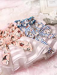 Chien Robe Vêtements pour Chien Décontracté / Quotidien Princesse Orange Bleu