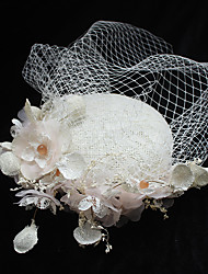 Tulle Chiffon Fabric Silk Net Headpiece-Wedding Special Occasion Birthday Party/ Evening Fascinators Hats 1 Piece