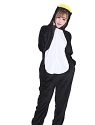 Kigurumi Pajamas Penguin Festival/Holiday Animal Sleepwear Halloween Fashion Embroidered Flannel Fabric Cosplay Costumes Kigurumi For