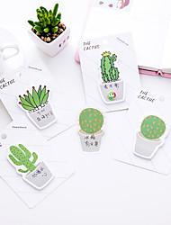 1 pc cactus auto-adhésif notes 30 pages (couleur aléatoire)