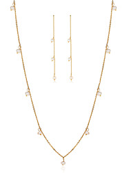 Beadia Jewelry Set 925 Sterling Silver Necklace & Earrings With Fresh Water Pearl For Women