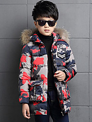 Boys' Print Down & Cotton Padded,Polyester Fall Winter Long Sleeve