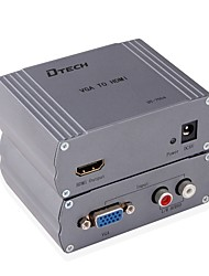 VGA 2RCA Conversor, VGA 2RCA to HDMI 1.4 Conversor Fêmea-Fêmea 1080P