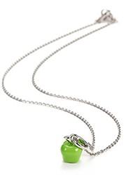 Жен. Детские Ожерелья с подвесками Яблоки Титановая сталь Серебрянное покрытие Мода По заказу покупателя Симпатичные Стиль Простой стиль