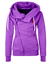 Women's Going out Hoodie Color Block Hooded Micro-elastic Others Long Sleeve Spring Fall