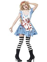 Une Pièce/Robes Costumes de Cosplay Zombie Cosplay Fête / Célébration Déguisement d'Halloween Rétro Robes Tablier Halloween Carnaval