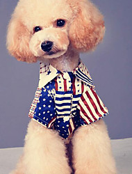 Dog Shirt / T-Shirt Dog Clothes Casual/Daily American/USA