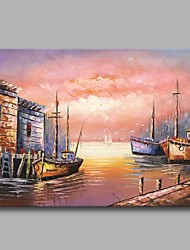 Under The Sunset on The Way Back 100% Hand Painted Contemporary Oil Paintings Modern Artwork Wall Art for Room Decoration