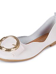 Women's Flats Comfort PU Summer Casual Buckle Flat Heel Light Brown Beige Flat