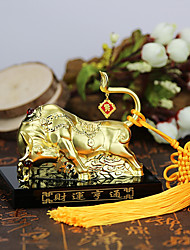 DIY Automotive Ornaments Chinese Style Cattle Perfume Car Pendant & Ornaments Metal