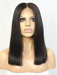 Nouvelle perruque en laine vierge brute brésilienne de style nouveau avec une séparation claire médiane