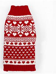 Cane Maglioni Abbigliamento per cani Casual Fiocco di neve