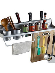 Double Cup Chopsticks Tube With Double Row Hook Kitchen Rack