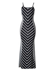 Women's Beach Simple Boho Sheath Striped Color Block Strap Maxi Sleeveless Trumpet/Mermaid Dress