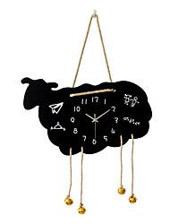 Moderno/Contemporáneo Animales Vacaciones Inspirador Familia Amigos Dibujos Animados Reloj de pared,Redondo Novedad Madera Interior