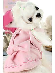 Собака Жилет Одежда для собак На каждый день Сплошной цвет Розовый