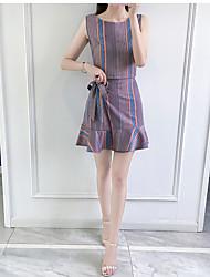 Jupe Costumes Femme,Jeux Avec Logo Apple Eté Col Arrondi