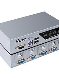 VGA USB 2.0 PS2 Interruptor, VGA USB 2.0 PS2 to VGA USB tipo B Interruptor Fêmea-Fêmea 1080P