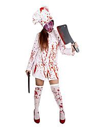 Cosplay Kostüme Skelett/Totenkopf Zombie Cosplay Fest/Feiertage Halloween Kostüme Vintage Top Strümpfe Mützen Halloween Karneval Frau