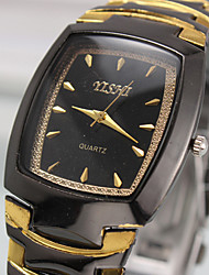 Men's Generous Fashion Contracted Between Gold Quartz Analog Leather Band Wrist Watch(Assorted Colors) Cool Watch Unique Watch