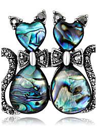 Women's Brooches Rhinestone Basic Fashion Vintage Personalized Luxury Simple Style Classic Elegant Crystal Imitation Diamond Alloy