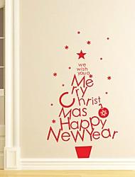 Navidad Palabras y Frases Día Festivo Pegatinas de pared Calcomanías de Aviones para Pared Calcomanías Decorativas de Pared Calcomanías