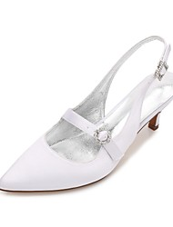 Damen Hochzeit Schuhe Komfort Pumps Knöchelriemen Satin Frühling Sommer Hochzeit Kleid Party & Festivität Strass Glitter Ausgehöhlt
