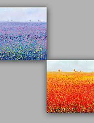 Peint à la main Paysages Abstraits Cool Mode Deux Panneaux Toile Peinture à l'huile Hang-peint For Décoration d'intérieur