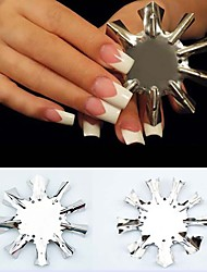 French Plate Model Crystal Nail Sculpture Shape Template
