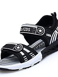 Boys' Sandals Comfort Light Soles Spring Summer PU Casual Outdoor Flat Heel Dark Blue Black/White Under 1in
