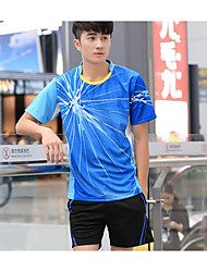 Mulheres Homens Manga Curta Ioga Correr Esportes Relaxantes Basquete Tenis de Mesa Camiseta Pulôver Shorts Baggy Fitness, Corrida e Yoga