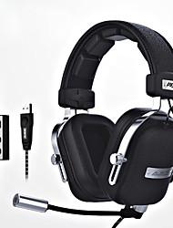ajazz-ax300 Головная повязка Проводное Наушники динамический Aluminum Alloy Ткань Игры наушникС микрофоном С регулятором громкости