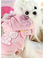 Собака Жилет Одежда для собак На каждый день Животные Розовый