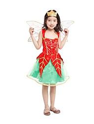 Uma-Peça/Vestidos Princesa Conto de Fadas Fantasias Festival/Celebração Trajes da Noite das Bruxas Vintage Vestidos AsasDia Das Bruxas