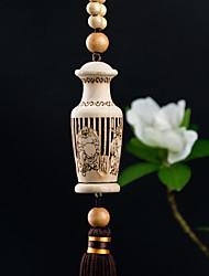 Diy pendentes automotivos taobao moda criativa ornamento de perfume pingente de madeira de elevação de carro&Ornamentos flor de